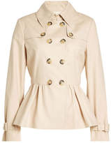Moschino Cotton Trench Jacket with Peplum