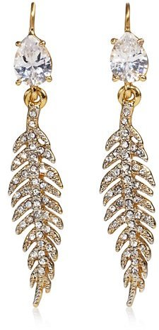 Juicy Couture Pave Feather Drop Earring