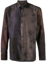 Lanvin patchwork tile print shirt