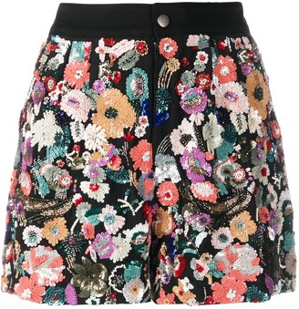 Etro Floral Sequin Embroidery Shorts