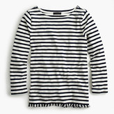 J.Crew Striped boatneck T-shirt with fringe