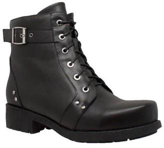 Women's Ride Tecs 8647 Biker Boot Black Leather 8.5 M