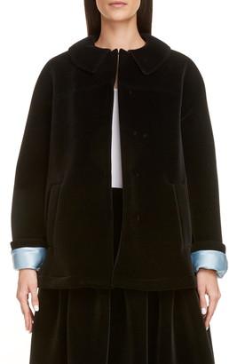 Sara Lanzi Velvet Swing Jacket