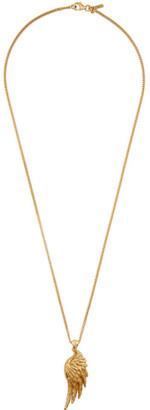 Emanuele Bicocchi Gold Wing Pendant Necklace