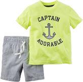 Carter's 2-pc. Short-Sleeve Tee and Shorts Set - Baby Boys newborn-24m