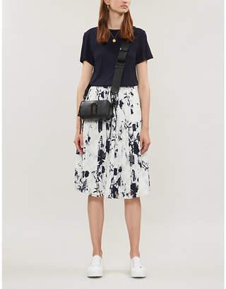 Ted Baker Bluebell Mockable contrast-skirt jersey and crepe dress