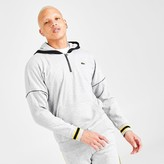 Lacoste Men's SPORT Hooded Contrast Fleece Half-Zip Hoodie