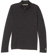 Smartwool Kids Mid 250 Zip Tee (Little Kids/Big Kids) (Charcoal Heather) Kid's Long Sleeve Pullover