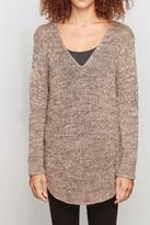 Wooden Ships Marled Shirttail Sweater