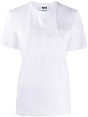 MSGM logo print short-sleeved T-shirt