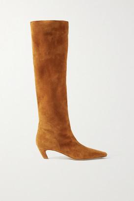 KHAITE Suede Knee Boots - Light brown