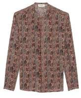 Saint Laurent Men's Multicolor Cotton Shirt.