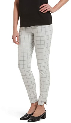 Hue Plus Size Ponte Ultra High-Waist 7/8 Straight Leg (Black Plaid) Women's Casual Pants