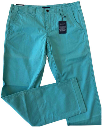 Gant Blue Cotton Trousers