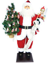 Asstd National Brand 36 Traditional Santa With Nutcracker & LED Lights In Tree