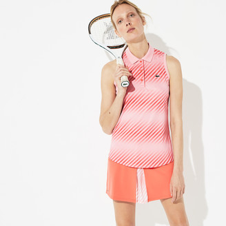 Lacoste Women's SPORT Breathable Pique Tennis Polo