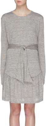 Current/Elliott 'The Crystal' belted ruched hem linen dress