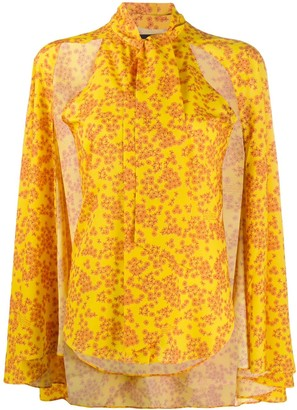 Rokh Flared Sleeve Floral Print Blouse