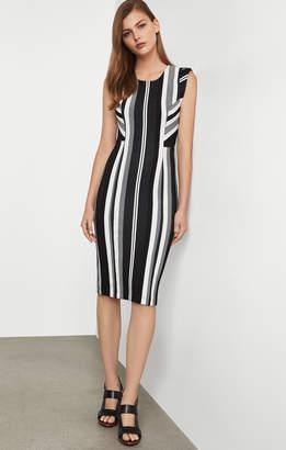 BCBGMAXAZRIA Striped Sheath Dress