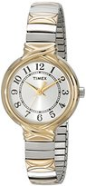 "Timex Women's T2N9799J ""Elevated Classics"" Watch With Two-Tone Expansion Band"