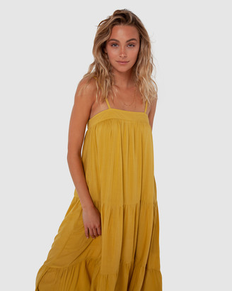Madison The Label - Women's Yellow Midi Dresses - Quinn Dress - Size One Size, XS at The Iconic