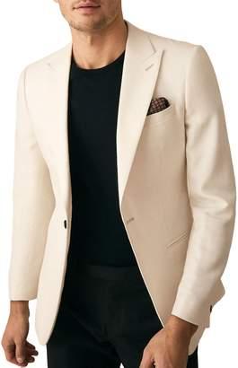 Reiss Mellow Peak Collar Single Button Jacket