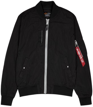 Alpha Industries Black shell bomber jacket