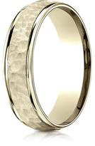 Ice 18K Yellow Gold Comfort-Fit 6mm High Polish Edge Design Band Ring