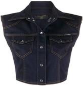 Dolce & Gabbana sleeveless cropped denim jacket