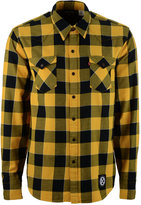 Levi's Men's Pittsburgh Steelers Plaid Barstow Western Long-Sleeve Shirt