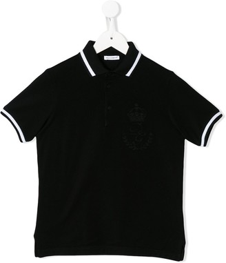 Dolce & Gabbana Kids Logo Print Polo Shirt