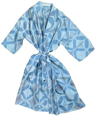 Atelier Etica Blue & Grey Silk Robe