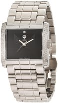Brillier Men's 08-41131-01 Klassique Square Stainless Steel Analog Watch