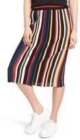 Sjyp Women's Stripe Knit Skirt