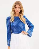 Yasmine Flare Sleeve Top