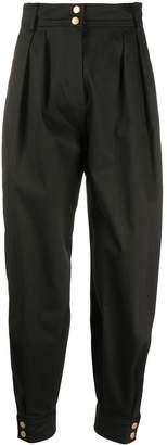 Alberta Ferretti High-Waist Pleated Trousers