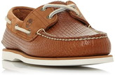 Timberland A21Hm Woven Leather Boat Shoes