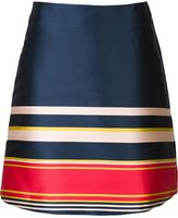 Suno striped A-line skirt - women - Polyester - 2