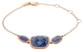 Meira T 14K Rose Gold, Tanzanite & 0.47 Total Ct. Pave Diamond Bracelet