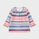 Paul Smith Baby Girls' Rainbow-Stripe 'Melanie' Top