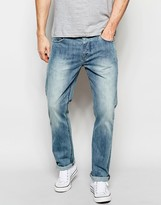Asos Straight Jeans In Lightwash Blue