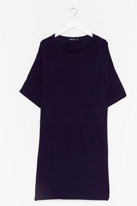 Nasty Gal Womens Drop Topic Plus Tee Dress - Black - 22, Black