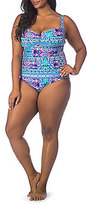 LaBlanca La Blanca Plus Size Global Perspective Sweetheart Tummy Toner One-Piece