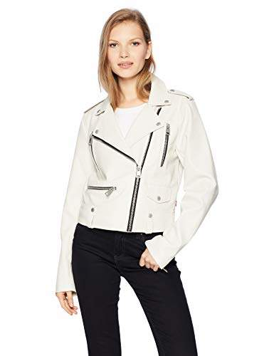 Women`s Faux Leather Contemporary Motorcycle Jacket