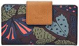 Fossil Emma RFID Moth-Print Tab Clutch