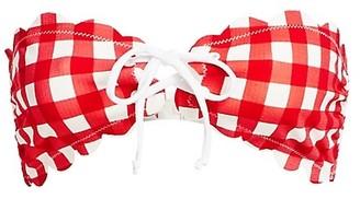 Marysia Swim Antibes Gingham Tie Bikini Top