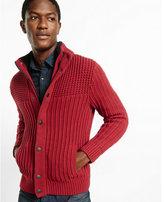 Express sherpa lined mock neck fleece sweater