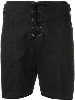 Saint Laurent Lace-Up Shorts