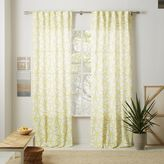 Linen Cotton Abstract Triangle Curtain - Sun Yellow