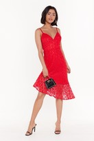 Nasty Gal Womens Daisy For Your Love Embroidered Floral Dress - 6, Red